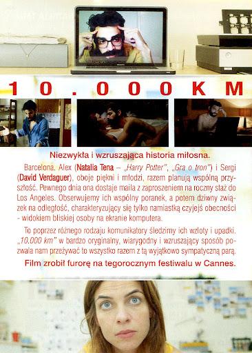 Tył ulotki filmu '10.000 km'