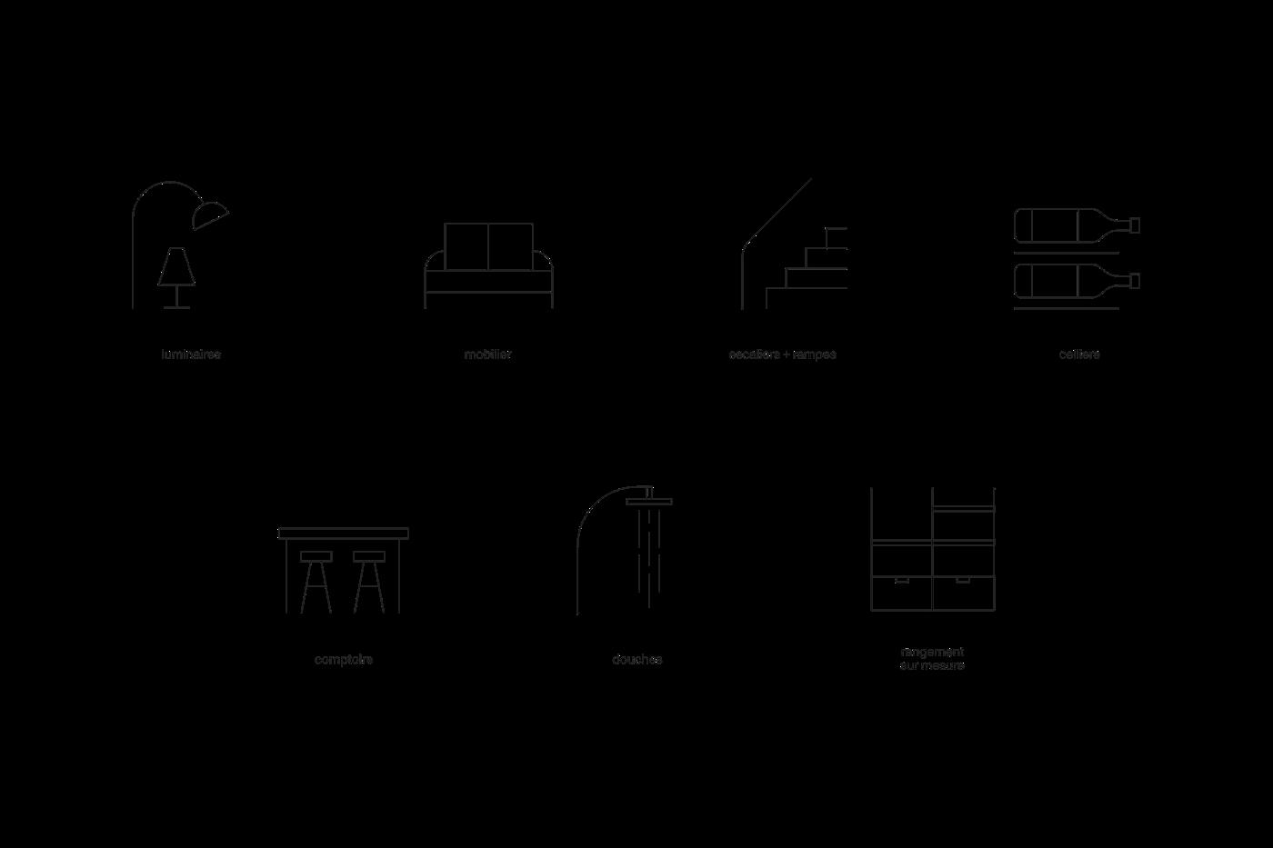 branding  byhaus construction furniture home identity Moderne