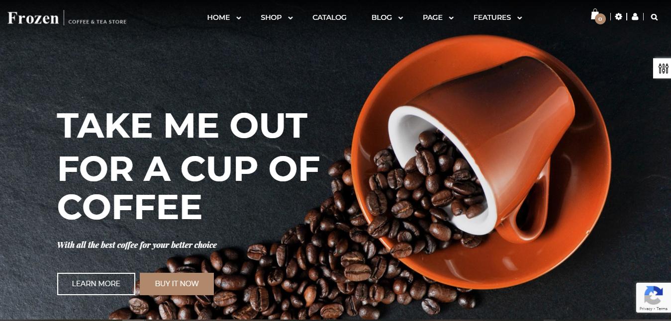 Frozen -Coffee shop shopify theme