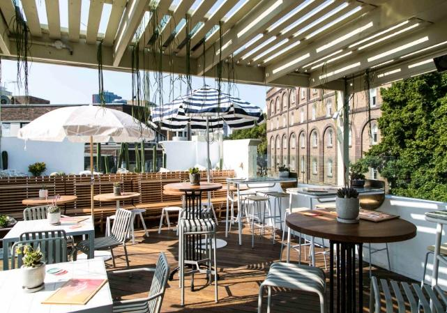 Image result for The rooftop, the quarrymans sydney beer garden photos