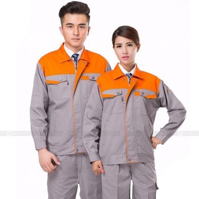 Đồng phục cơ khí màu cam xám