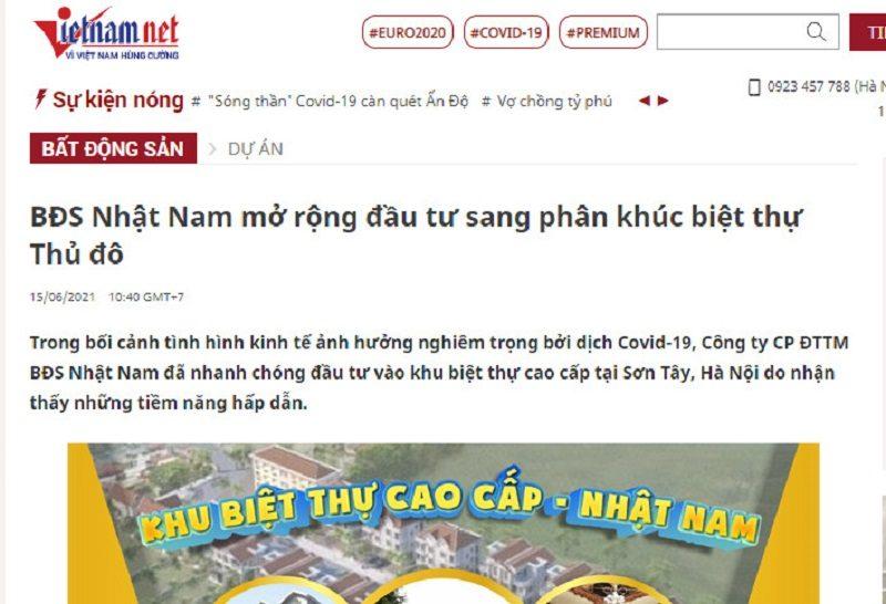 Uy tín tạo nên thương hiệu - Báo Vietnamnet gọi tên Nhật Nam