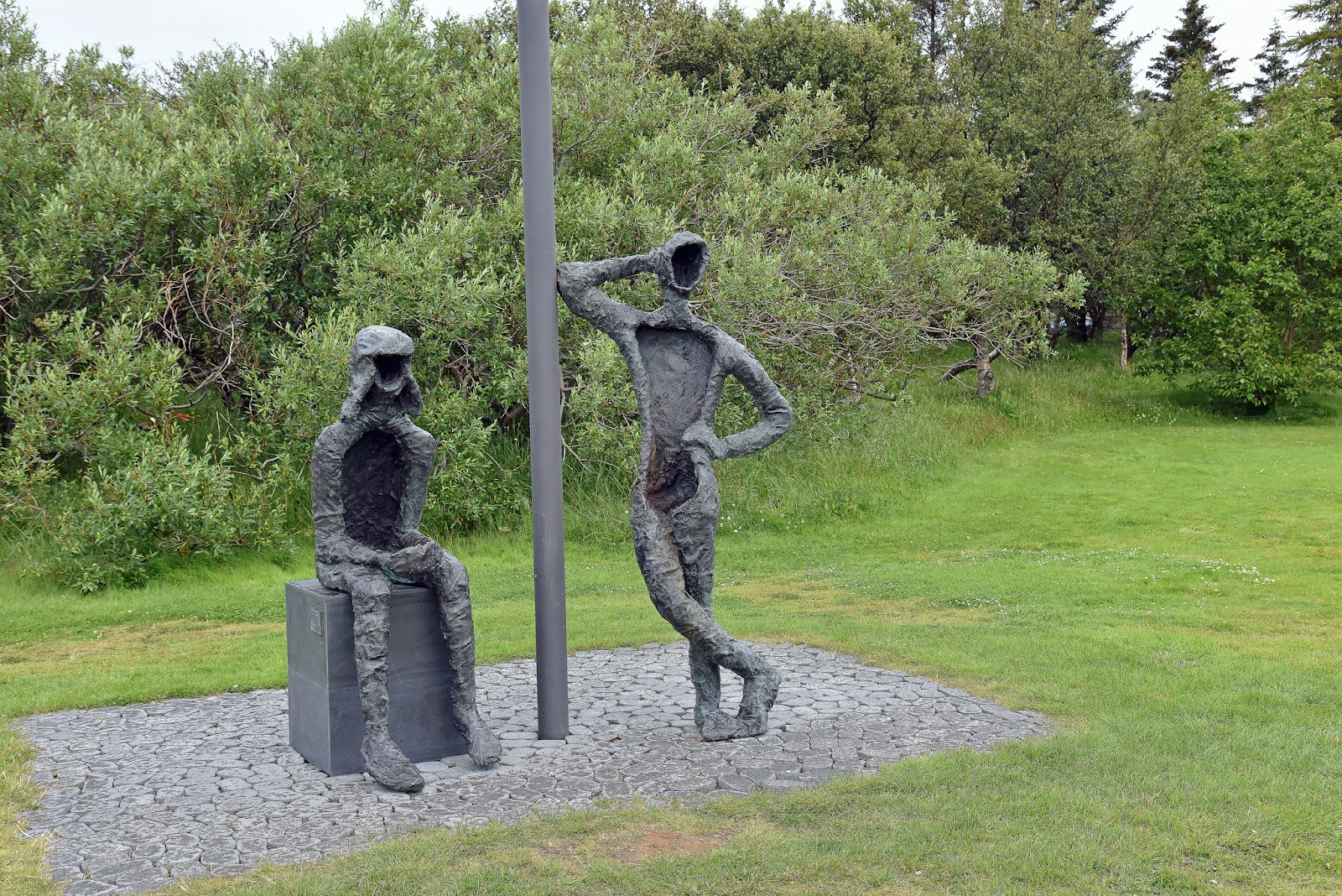 Perlufestin sculpture by Thorbjorg Palsdottir. In Hljomskalagardurinn Public Park, Reykjavik.