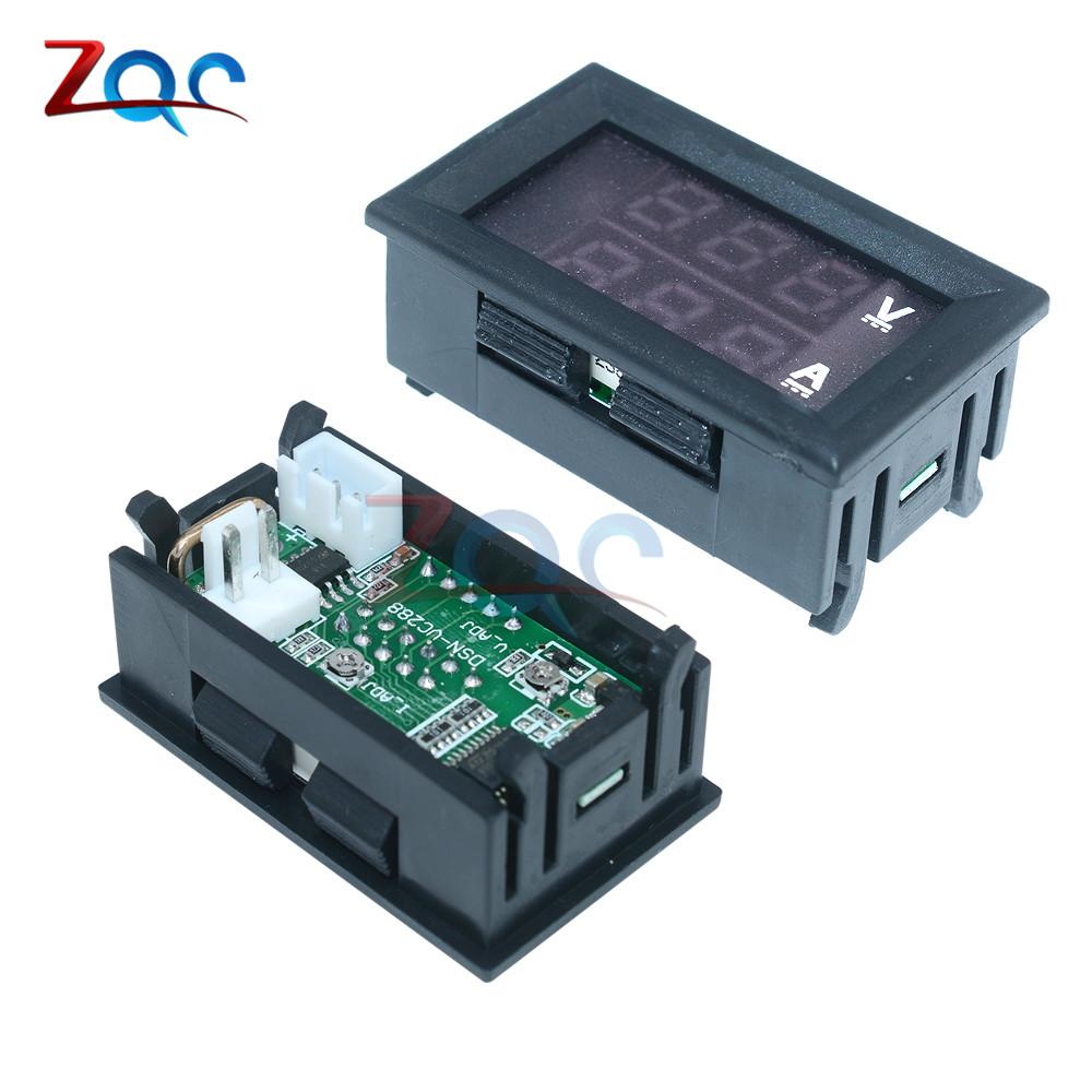 Mini Digital Voltmeter Ammeter Dc 100v 10a Panel Amp Volt Voltage Led Display Besides Circuit 1pcs X Current Meter Tester 028 Blue Red Dual