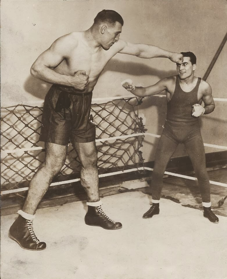 Primo Carnera and Fidel LaBarbara Flyweight Champ c.1929.jpg
