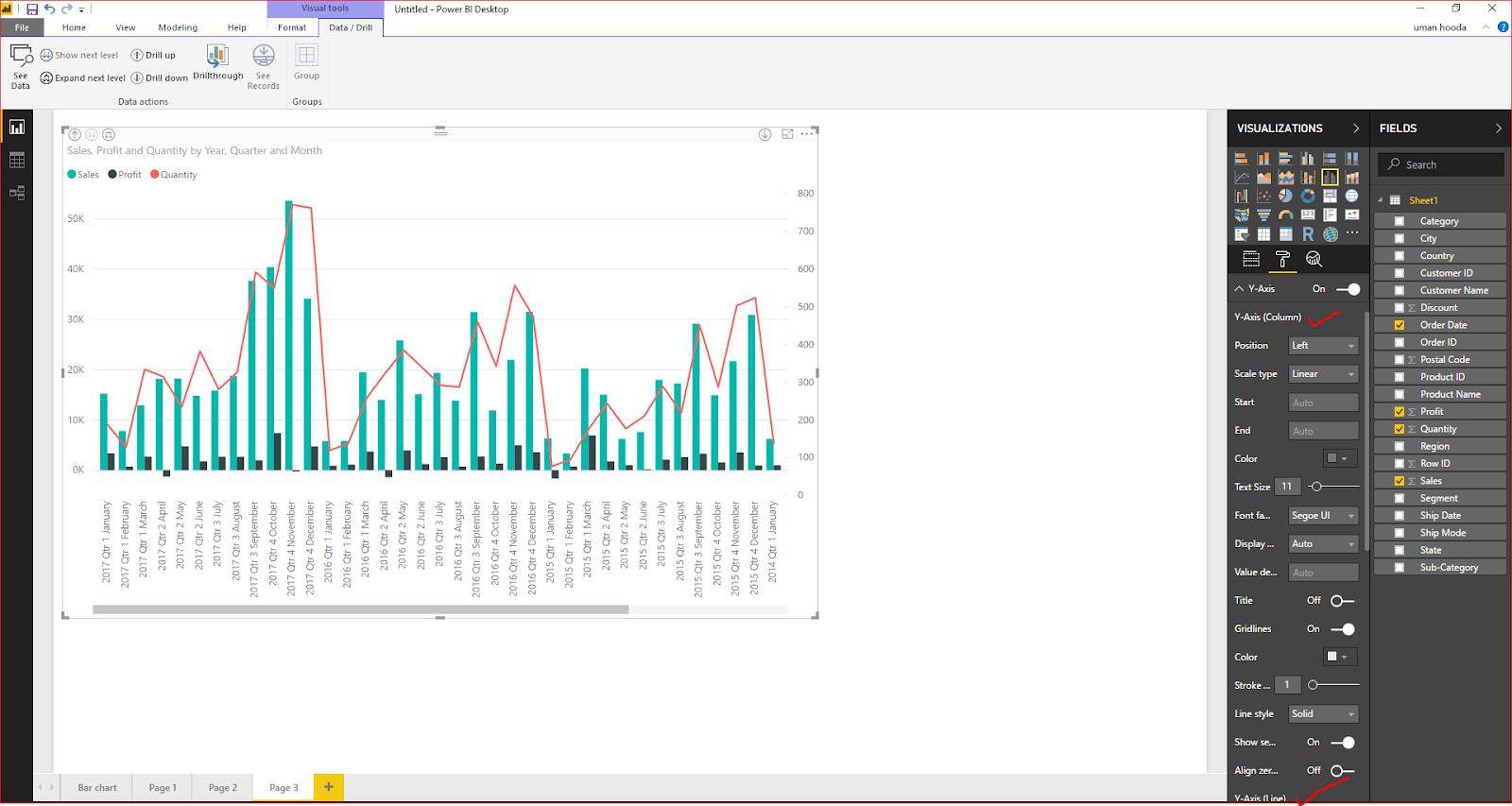 Dual Axis Chart in Microsoft Power BI - Step By Step 44