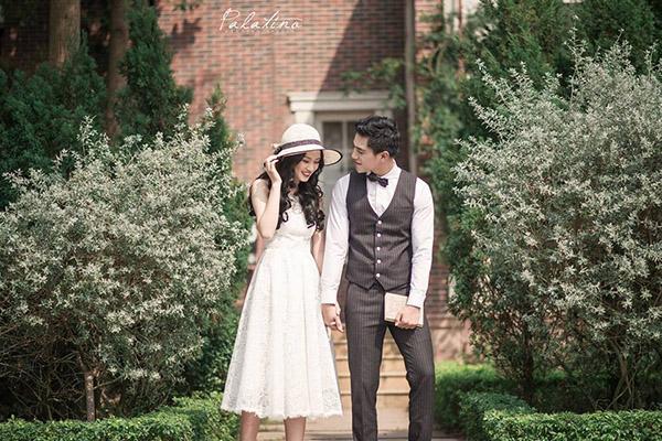 chụp ảnh cưới ở biệt thư hoa hồng