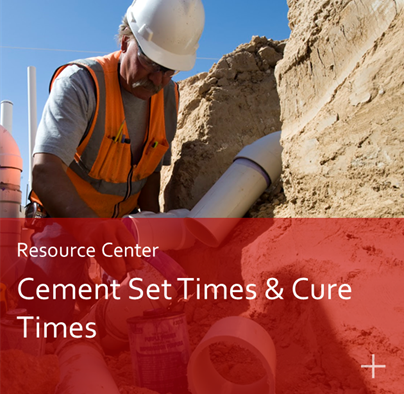 Pipe Cement Set Times and Cure Times