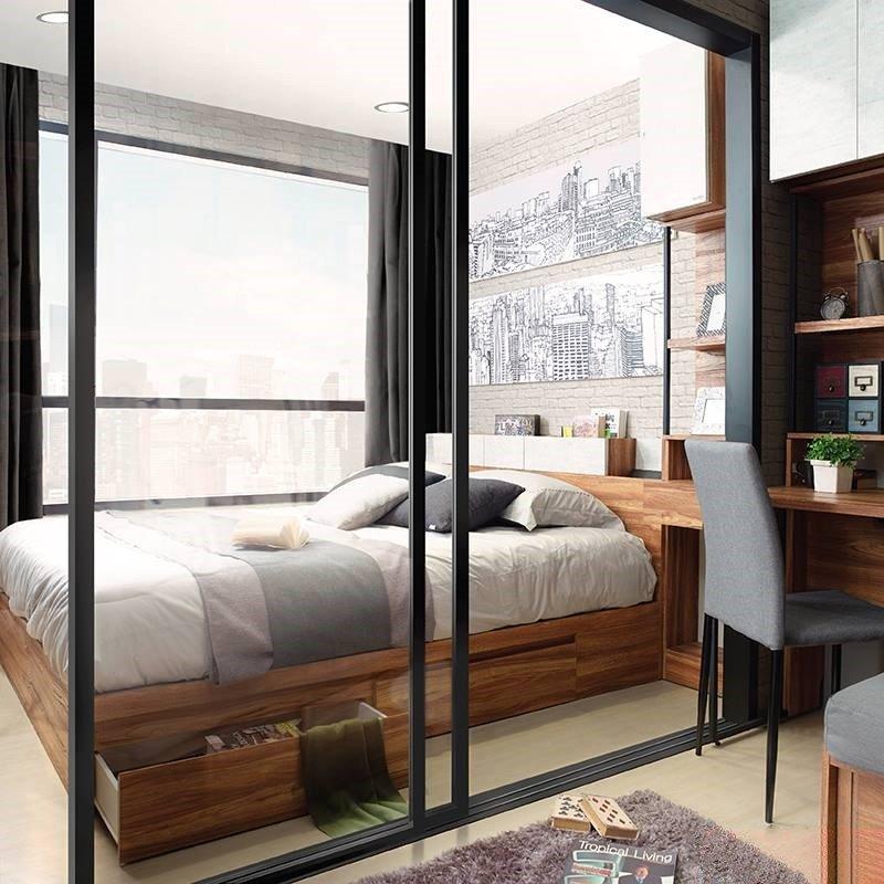 Giường có hộc Bricko giúp phòng ngủ gọn gàng hơn