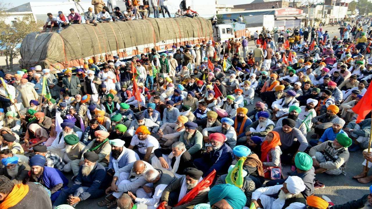 Image result for farmers protests in haryana toll plaza