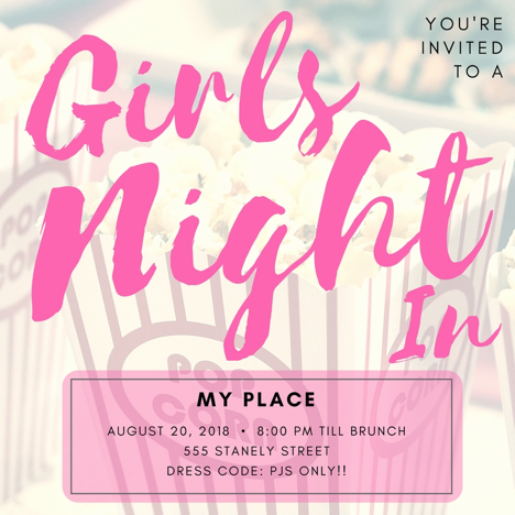 The ultimate guide to a cozy girls night in all the essentials you ladies night invitation wording stopboris Choice Image