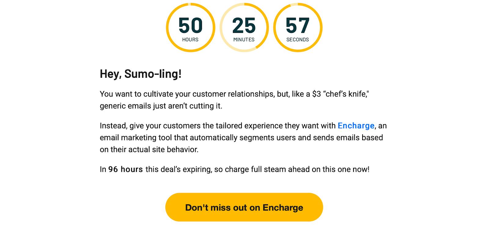 AppSumo email example