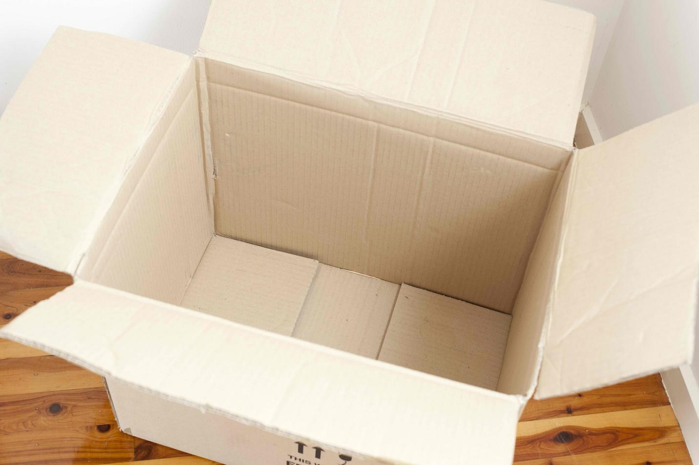 Free Stock Photo 10752 Open Empty Cardboard Box Container | freeimageslive