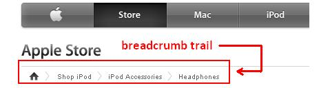 Breadcrumb SEO E-Commerce Site