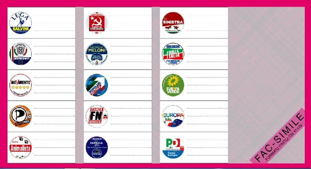 Risultati immagini per fac simile scheda elettorale europee 2019