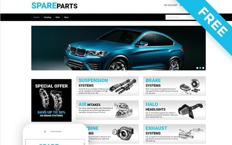 лучший бесплатный шаблон темы ботстрапа веб-сайт автозапчасти автомобильные аксессуары