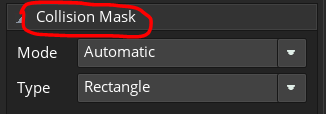 collision mask button