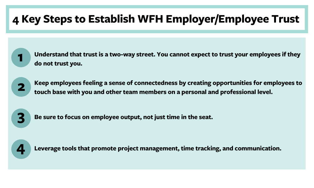 4 key steps to establish work from home employer/employee trust
