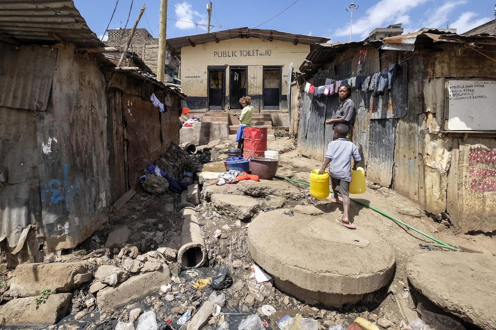 Slum of Mathare, Nairobi, Kenya.