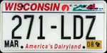 Image of the Wisconsin state license.