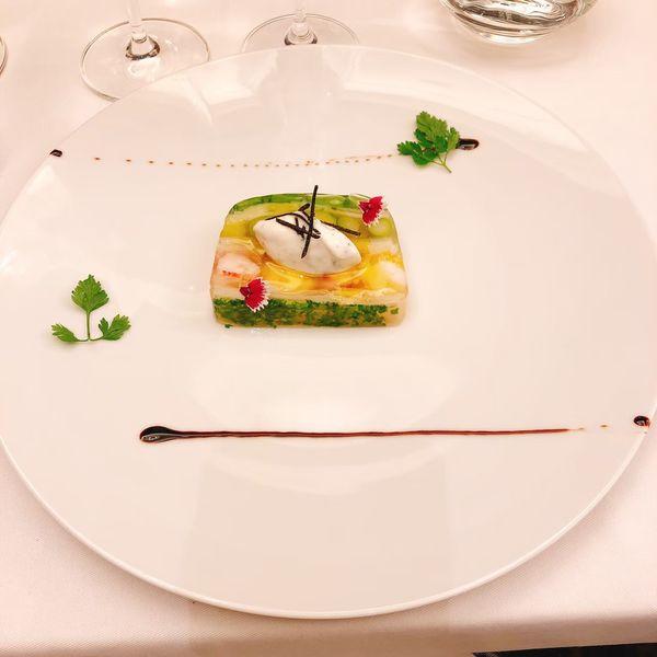 THOMAS.簡 法式餐廳 餐點:甜豆明蝦凍派