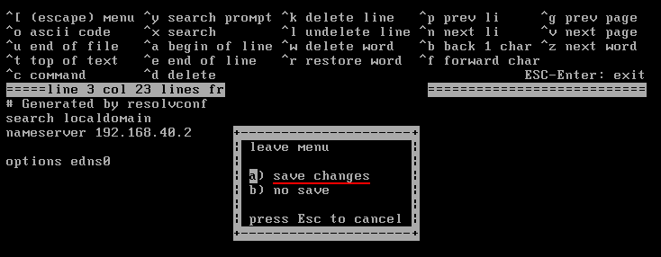 FreeBSD Cannot Connect To The Internet: save resolv.conf. Source: nudesystems.com