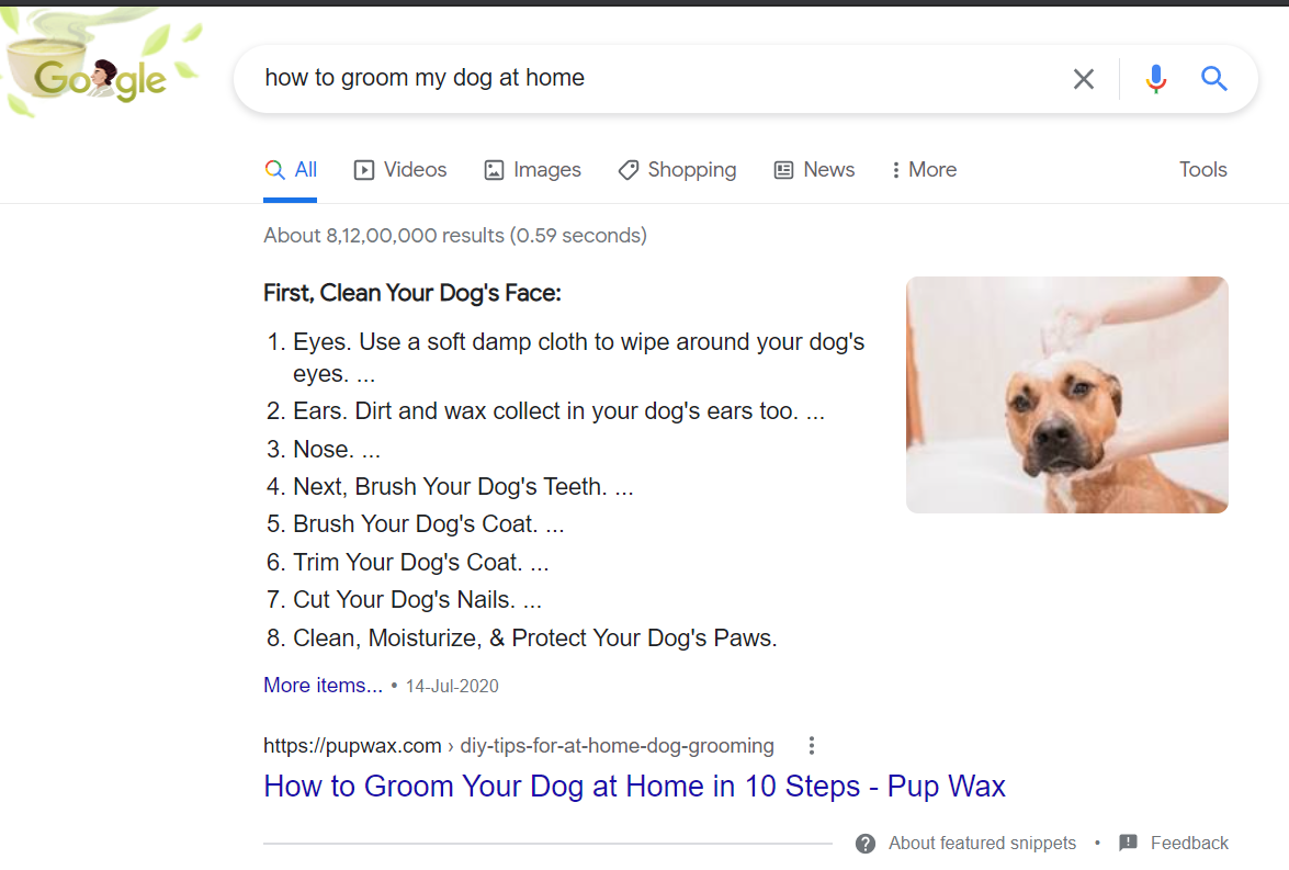 how to get traffic on blog - search intent example