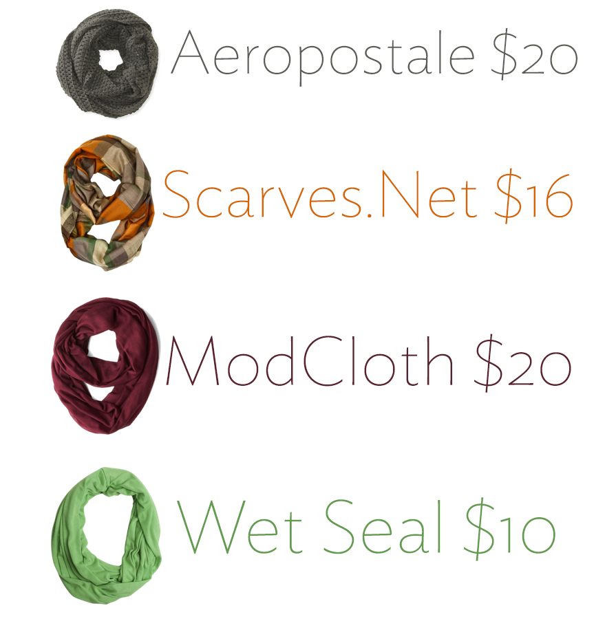 cheap cold weather scarves