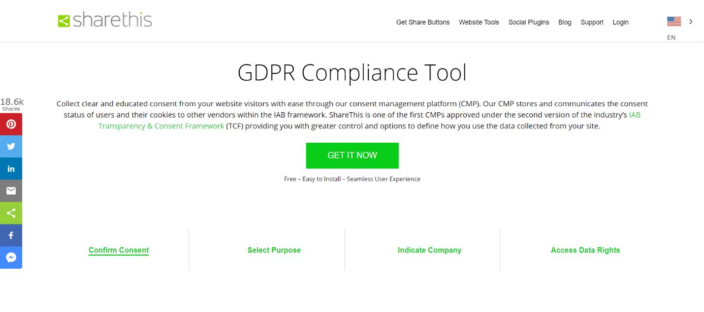 ShareThis GDPR Compliance Tool