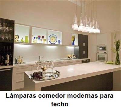 LÁMPARAS DE COMEDOR MODERNAS - AHORA TAMBIÉN PUEDES MODERNIZAR TU ...