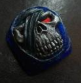 Artkey - Trans Blue, Silver & Red Mumkey