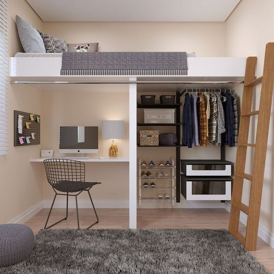Loft Bedroom Storage Ideas With Integrated Spaces