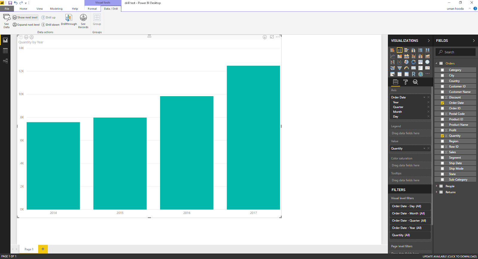 Drill In / Out on Your Data For Different Dates In Microsoft Power BI 42