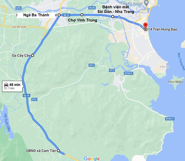 Điểm trả khách của Phương Nam ở Nha Trang