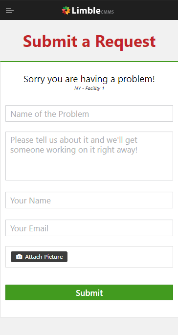 work request portal Limble CMMS