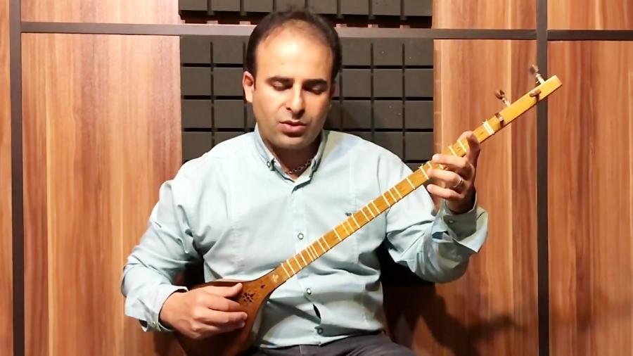 فیلم آموزش آهنگ محلی بختیاری به روایت جلال ذوالفنون دستگاه شور سل نیما فریدونی سهتار