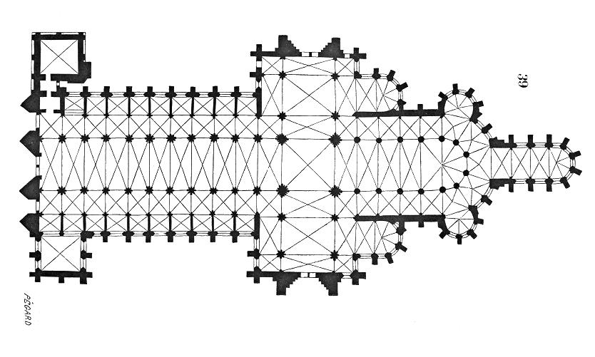 Plan of Rouen Cathedral | Triposo