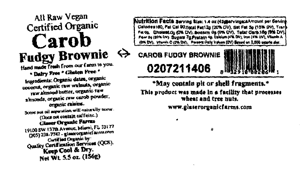Carob Fudgy Brownie 5.5. oz label