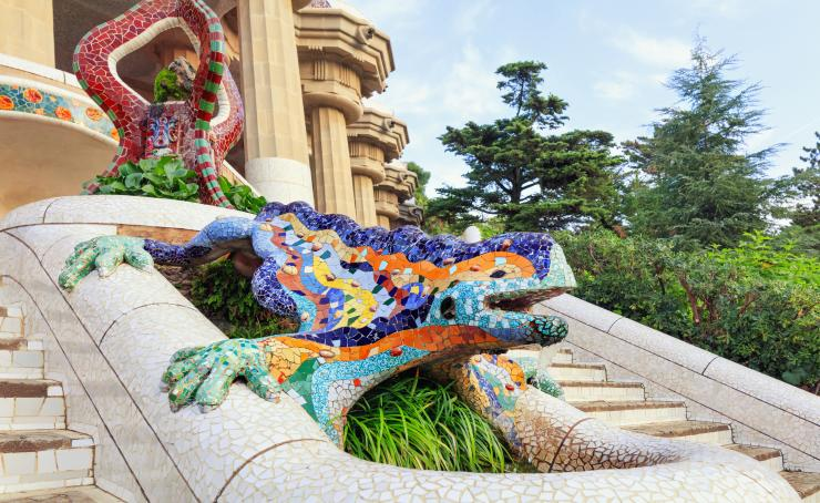 Salamander in Park Guell Barcelona