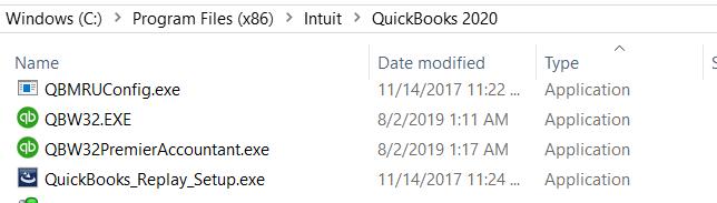 QuickBooks Program File Path