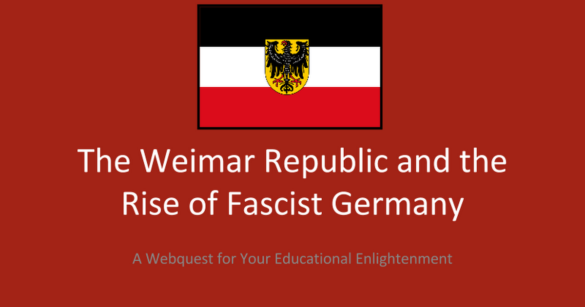weimer republic Weimar republic essay 2407 words | 10 pages weimar republic there were various factors that contributed to the failure of the weimar republic of germany and the ascent of hitler's national socialist german workers party into power on january 30, 1933.
