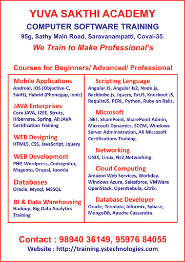 Yuva Sakthi Academy - Software Training Institute in Coimbatore