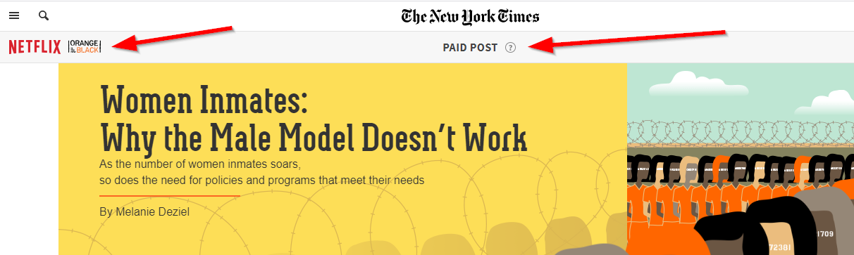 branded content example on the NYT