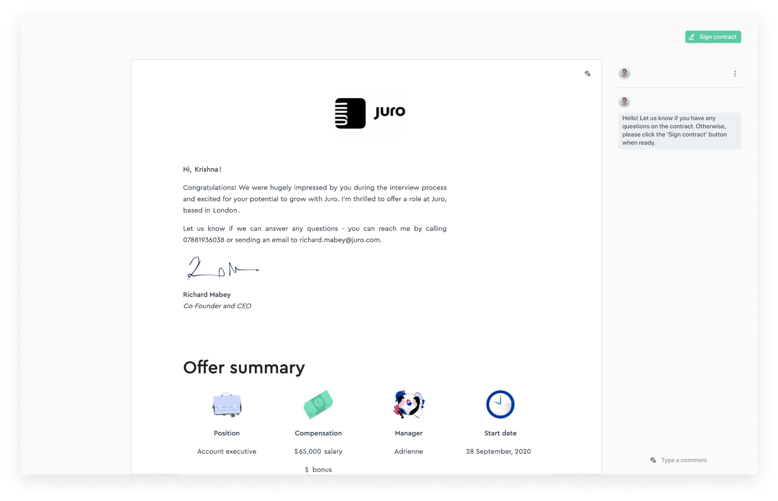juro-employment-offer-letter-UI