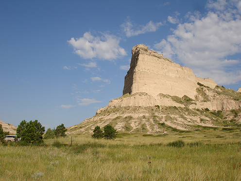 A picture of Scotts Bluff in Nebraska.