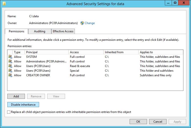 NTFS Permission 50