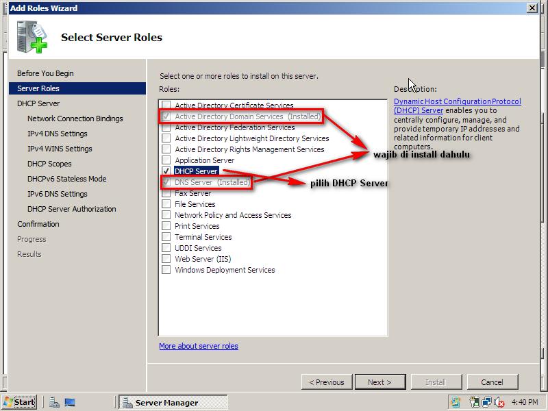 Configuration dhcp server on windows 2008 arifatul for Windows official website