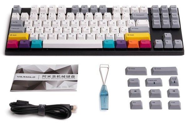 Комплект поставки игровой клавиатуры Varmilo VA87M CMYK