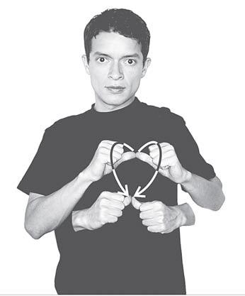 Corazón lenguaje de señas