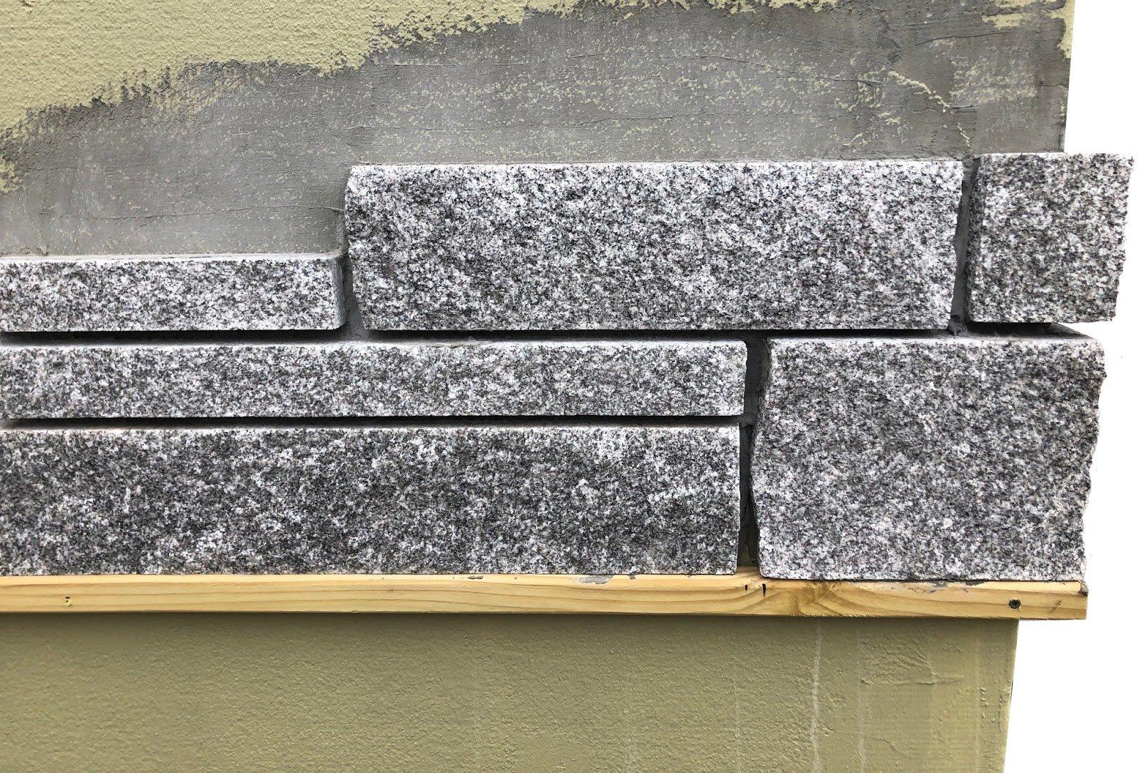 Woodbury Gray granite thin veneer